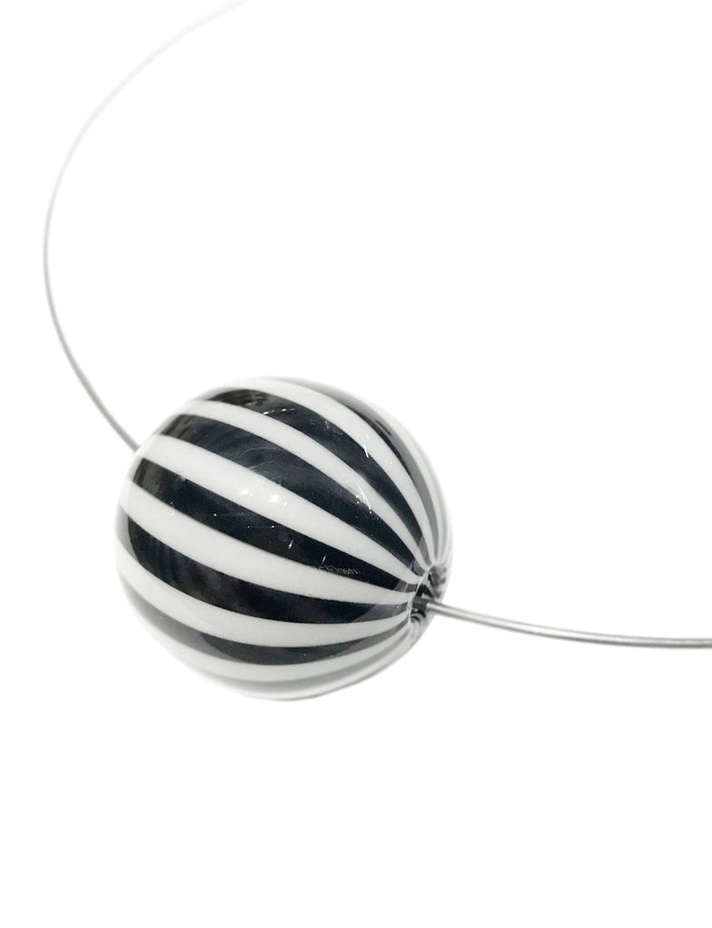 Circus Stripe Pendant Necklace