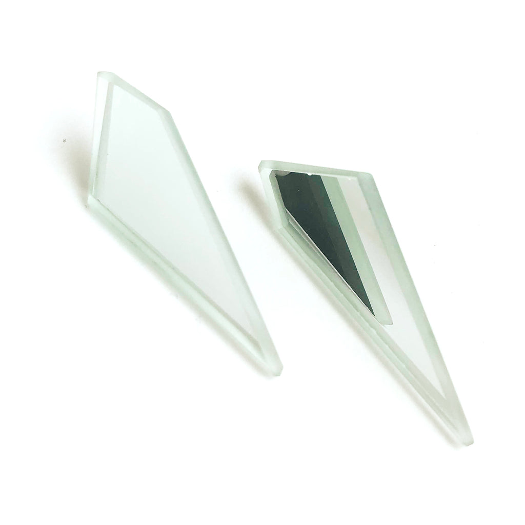 Diamond Dagger Mirror Earrings