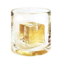 The Petite Gold Cube Glass