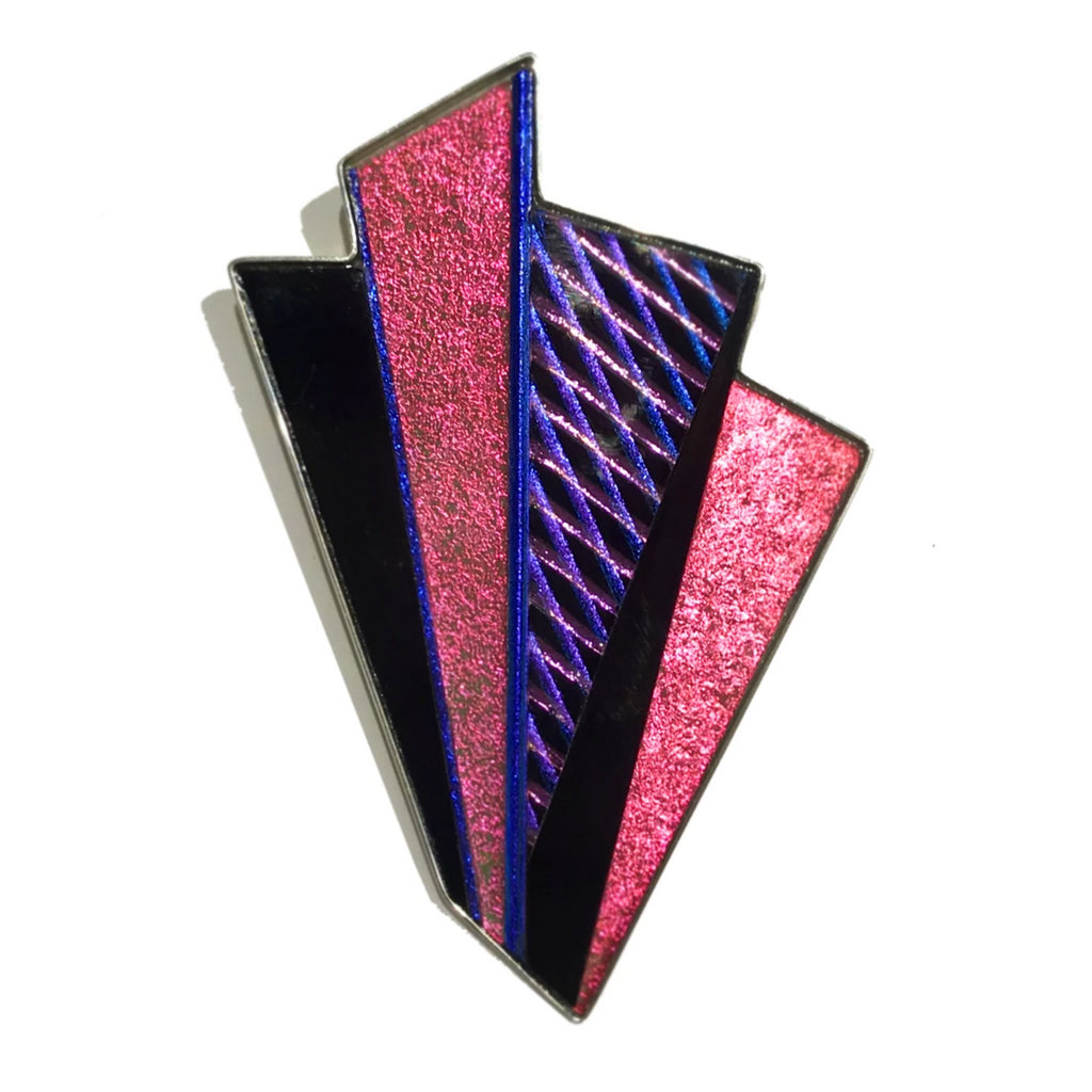 Pink Dichroic Fan Pin