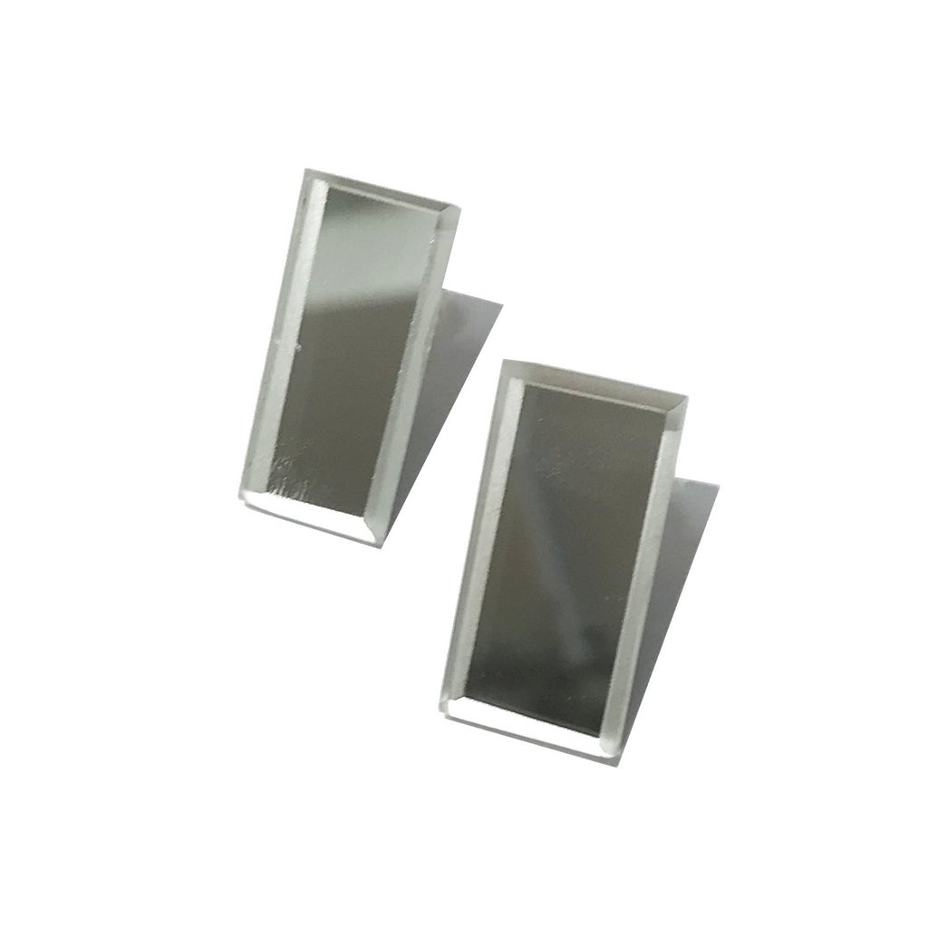 Rectangular Mirror Earrings