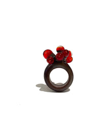 Purple and Red Anemone Ring