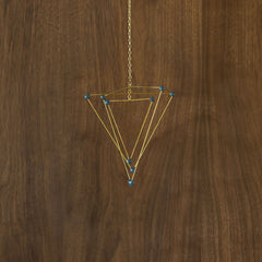 Small Navy Triangle Mobile