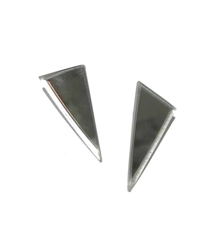 Triangular Mirror Earrings
