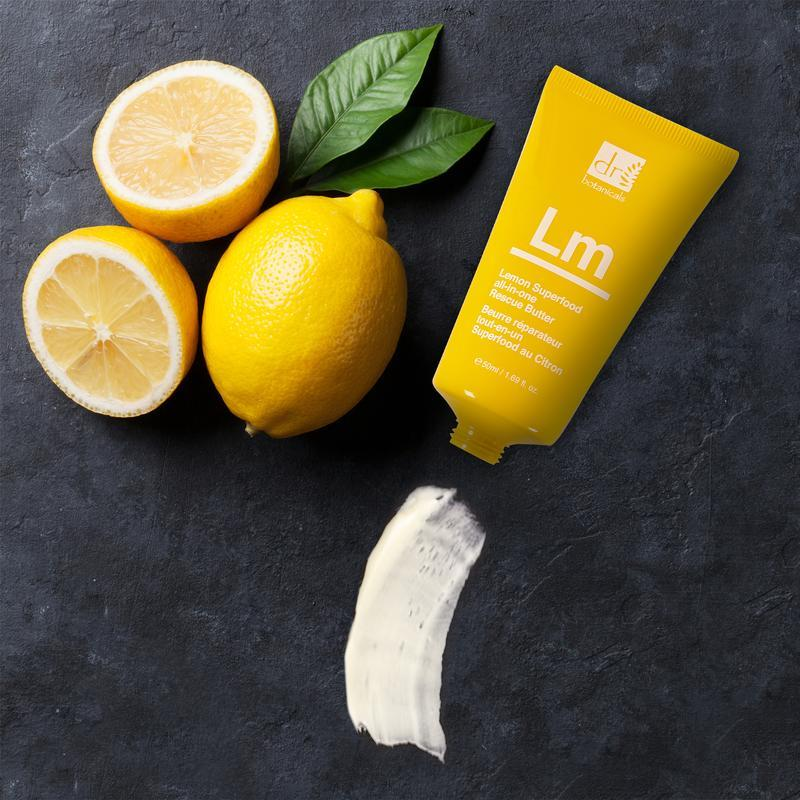 dr botanicals lemon body butter with lemon