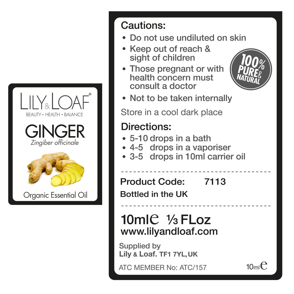 Ginger - Organic Essential Oil