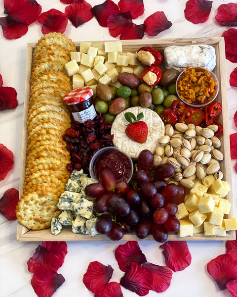 Valentine's Day Cheese Platter
