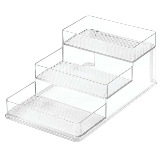 "Collection Linus - Organisateur à épices en plastique transparent 6.5"" x 10.25"" x 4"""