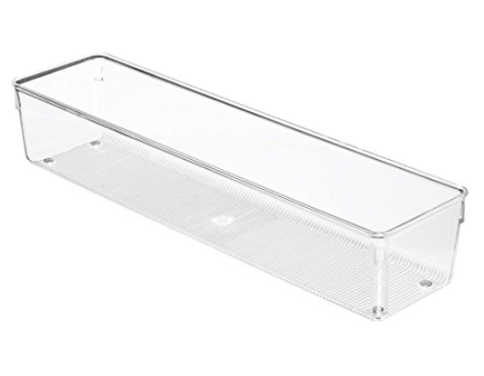 "Collection Linus - Organisateur en plastique transparent 4"" x 16"" x 3"""