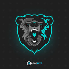 Load image into Gallery viewer, Bear Head Mascot-Mascot Logos-LogoHive