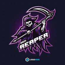 Load image into Gallery viewer, Grim Reaper-Mascot Logos-LogoHive