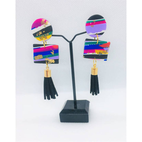 No Shrinking Violet Tassel Earrings