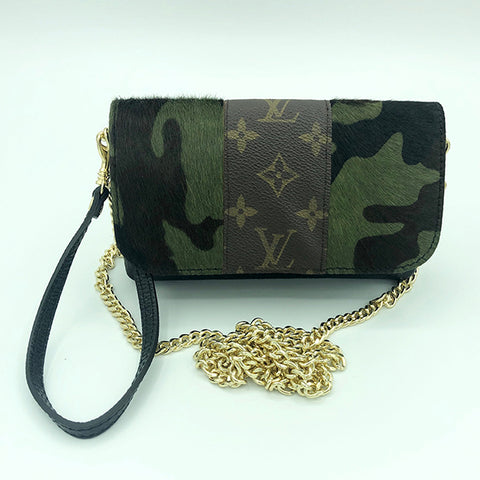 Sterling Upcycled Camo Bag