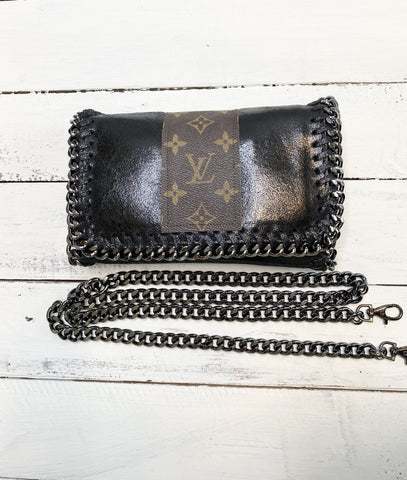 Kelly Chain Upcycled Black Bag