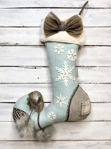 Frosted Winter Stocking