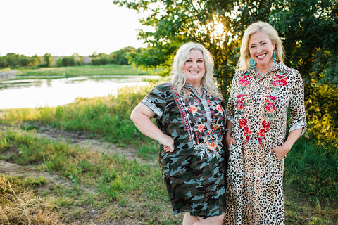 Savanna Jane Plus Size Camo Floral Dress