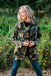Camo Jacket with Embellished Logo