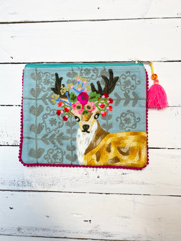 Deer Zipper Bag