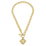Susan Shaw Gold Coin Necklace