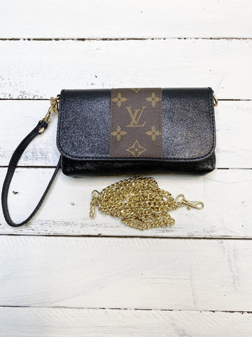 Sterling Upcycled Metallic Black Bag