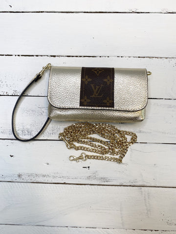 Sterling Upcycled Metallic Gold Bag