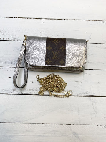 Sterling Upcycled Metallic Silver Bag