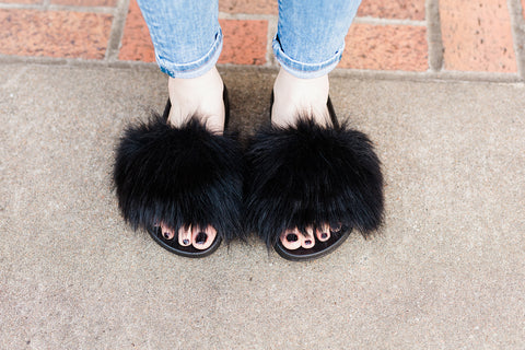 Fabulous Furs Slides - Black