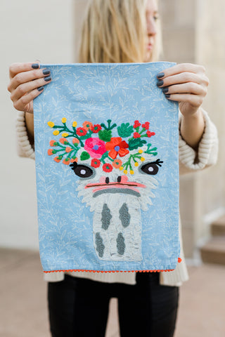 Karma Living Tea Towel - Ostrich