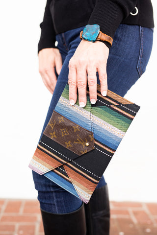 Multi Southwest Upcycled Envelope Clutch