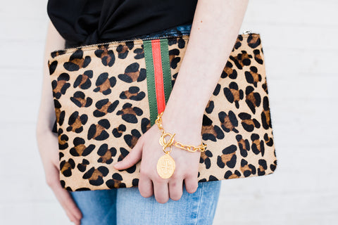 Gucci Inspired Zipper Clutch