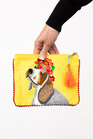 Sweet Doggy Zipper Bag