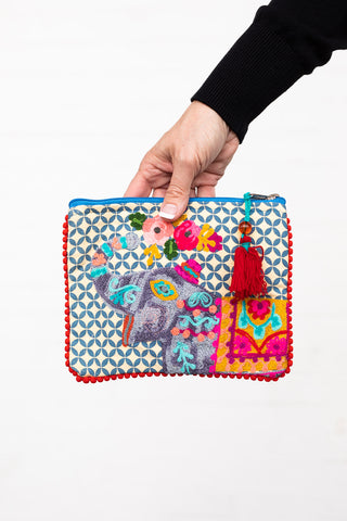 Elephant  Zipper Bag