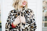 Graphic Leopard Faux Fur Jacket