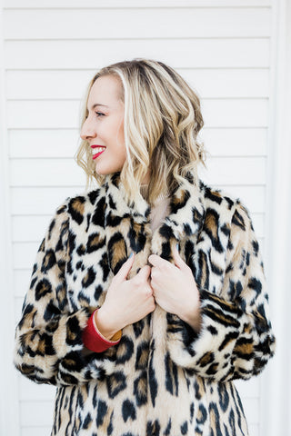 Fabulous Furs Graphic Leopard Favorite Faux Fur Jacket
