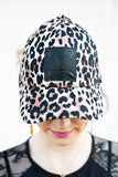 Limited Edition Leopard Baseball Cap with Black LV Patch