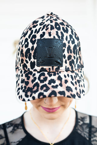 Limited Edition Upcycled Leopard Baseball Hat