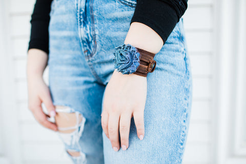 Jewelry Junkie Distressed Flower Cuff