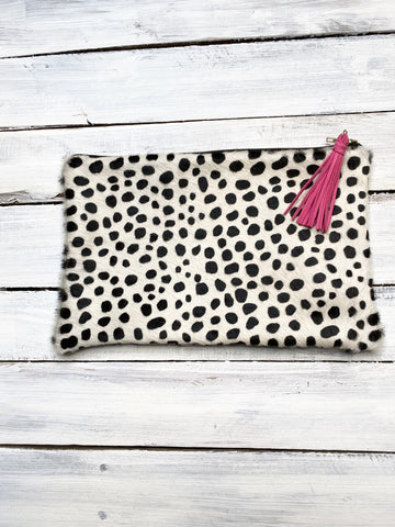 Polk-A-Dot Zipper Clutch