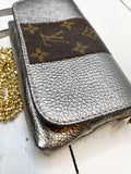 Sterling Upcycled Metallic Pewter Bag