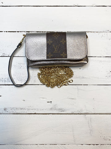 The Sterling Bag Upcycled - Metallic Pewter