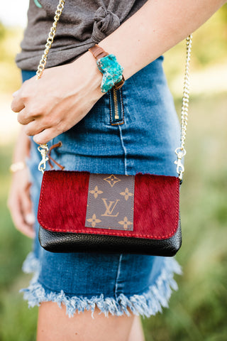The Sterling Bag Upcycled - Red & Black