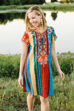 Boho Multi Color Dress