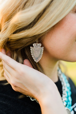 Susan Shaw Arrowhead Earrings
