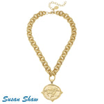 Susan Shaw Race Horse Necklace