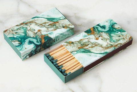 Oversized Matches, Emerald wooden matches gift fireplace light fire