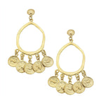 Susan Shaw Statement Coin Earrings