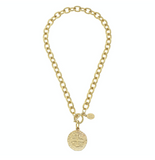 Susan Shaw Coin Toggle Necklace