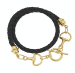 Susan Shaw Leather Horse Bit Wrap Bracelet