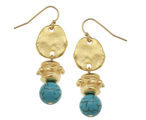 Susan Shaw Turquoise Earrings