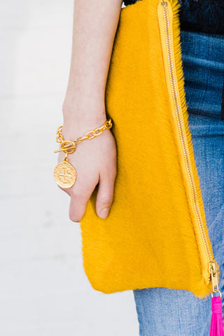 Susan Shaw Coin Toggle Bracelet